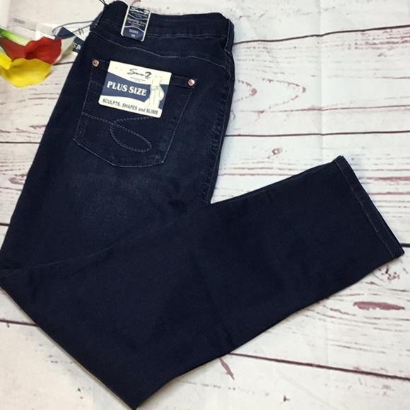 0ee350d4d65 Seven7 Women s Plus Size Tummy Skinny Jeans 👖